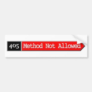 405 - Método no permitido Pegatina Para Auto