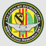 405o RRD PLB 1 - ASA Vietnam Pegatina Redonda