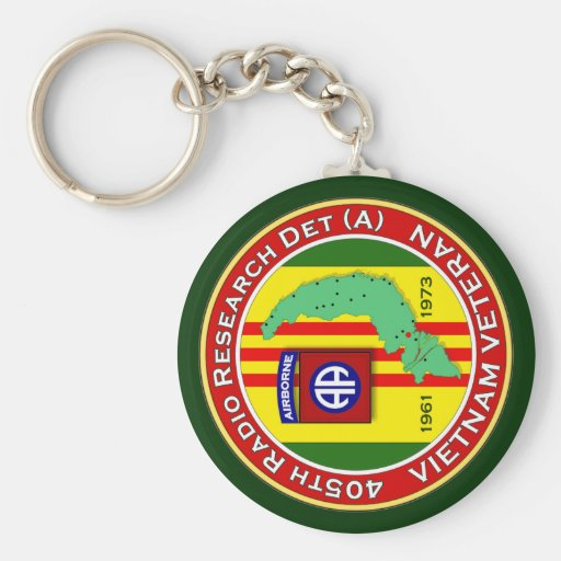 405th RRD-A 2 - ASA Vietnam Basic Round Button Keychain