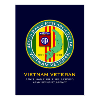 405th RRD-A - ASA Vietnam Postcard