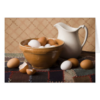 4061 Bowl of Eggs & Pitcher Still Life Card