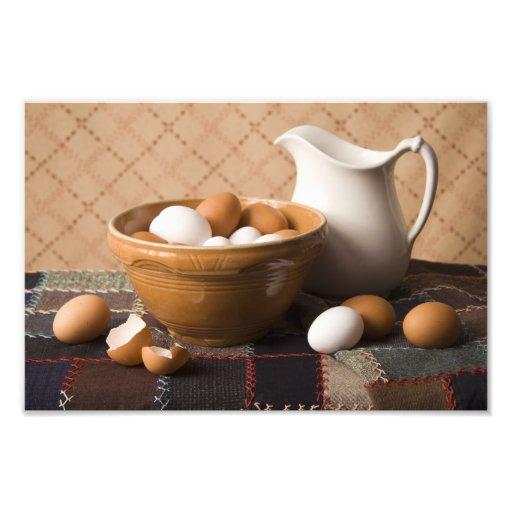 4061 Bowl of Eggs & Pitcher Still Life Photo Print