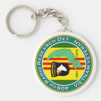 406th RRD - ASA Vietnam Basic Round Button Keychain