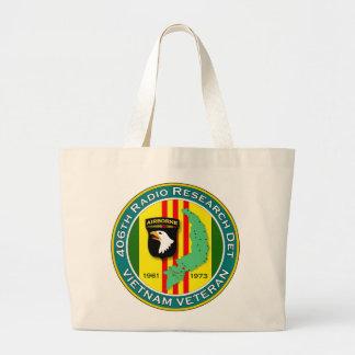 406th RRD - ASA Vietnam Large Tote Bag