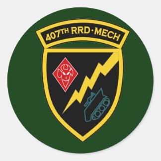 407o RRD - SSI Mech Pegatinas Redondas