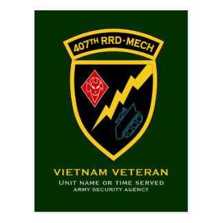 407th RRD - Mech SSI Postcard