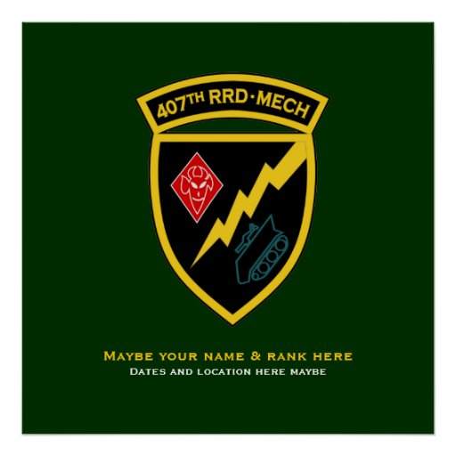 407th RRD - Mech SSI Poster