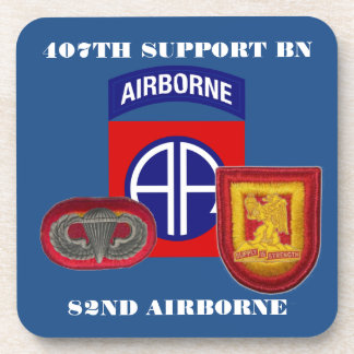 407TH SUPPORT BN 82ND AIRBORNE DRINK COASTERS