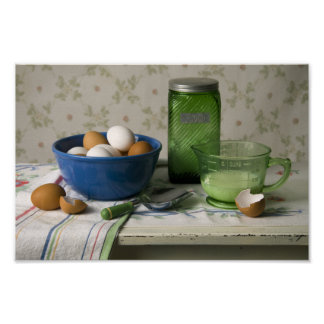 4081 Bowl of Eggs Still Life Posters