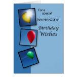 4087 deseos del cumpleaños del yerno, globos tarjetón