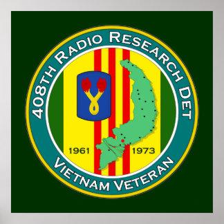 408o RRD - ASA Vietnam Póster