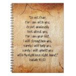 40:10 de Isaías del verso de la biblia Libro De Apuntes