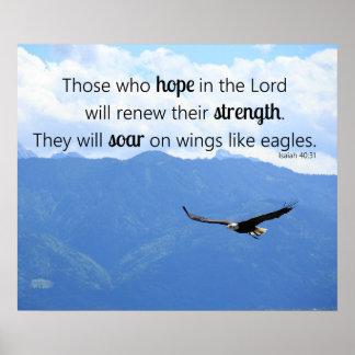 40:31 cristiano de elevación de Isaías de la Póster