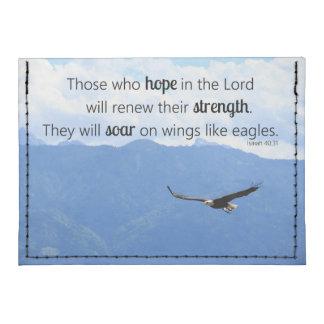 40:31 cristiano de elevación de Isaías de la Tarjeteros Tyvek®