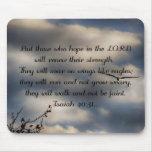 40:31 de Isaías del verso de la biblia Alfombrillas De Ratón