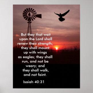 40:31 de Isaías - impresión del arte Póster