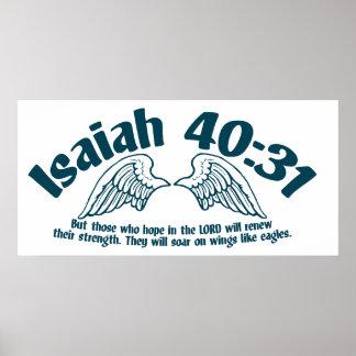 40:31 de Isaías Póster