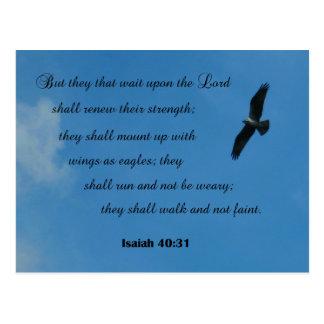 40:31 pero ellos de Isaías esa espera sobre el Tarjetas Postales