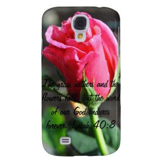 40:8 de Isaías del verso de la biblia Samsung Galaxy S4 Cover