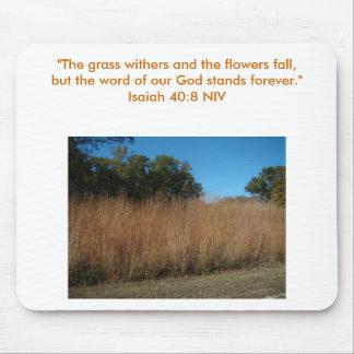"""40:8 de Isaías """"la hierba marchita y el flowe… Tapetes De Ratón"""