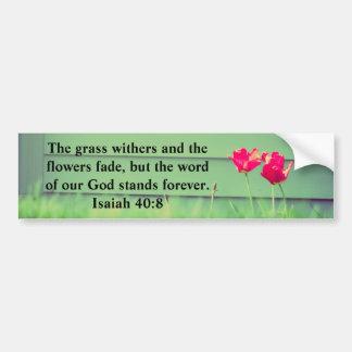 40:8 de Isaías Pegatina Para Auto