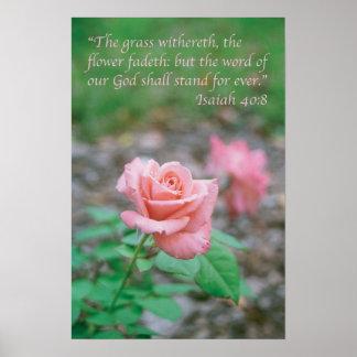 40:8 de Isaías Póster