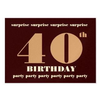 40.a - 49.a invitación de la fiesta de cumpleaños