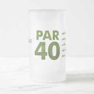 40.a fiesta de cumpleaños de los golfistas taza de cristal