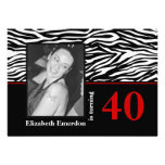 40.a foto del cumpleaños del estampado de zebra ro