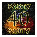 40.a invitación de la fiesta de cumpleaños con los