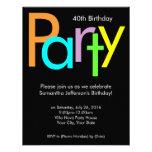 40.a invitación de la fiesta de cumpleaños de los