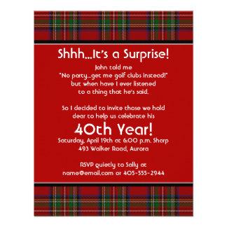40 a invitación de la fiesta de cumpleaños del tar