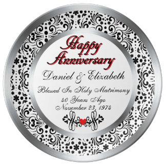 40.a placa personalizada de la porcelana del plato de cerámica