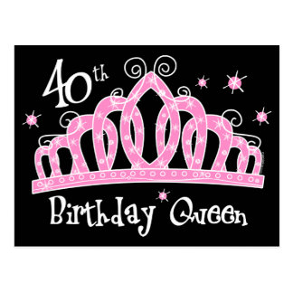 40 a reina DK del cumpleaños de la tiara Tarjetas Postales