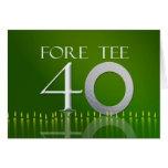 40.a tarjeta de cumpleaños para la nuez del golf