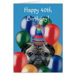 40.a tarjeta de felicitación feliz del perro del b