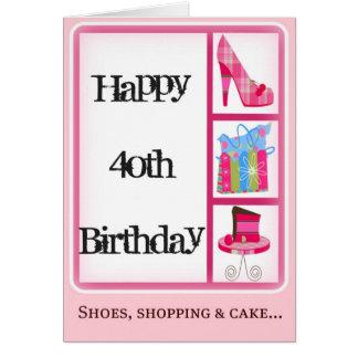40.a tarjeta del cumpleaños de la diva para las mu
