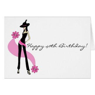 40 a tarjeta del cumpleaños de la diva para las mu