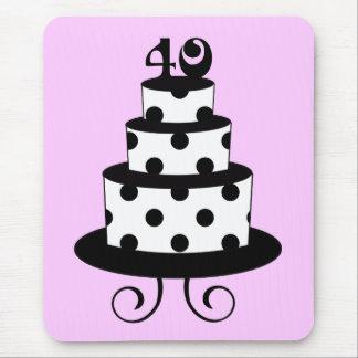40 a torta del aniversario del cumpleaños del luna tapetes de ratones