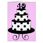 40.a torta del aniversario del cumpleaños del luna tarjeta