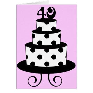 40.a torta del aniversario del cumpleaños del luna tarjeta de felicitación