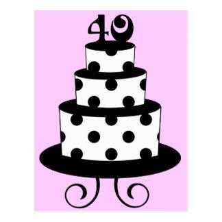 40.a torta del aniversario del cumpleaños del luna postales