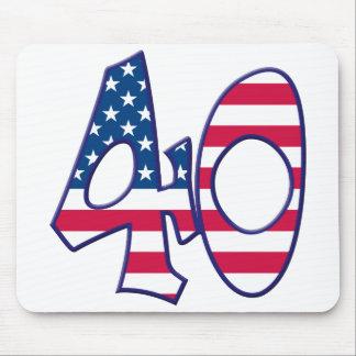 40 Age USA Mouse Pad