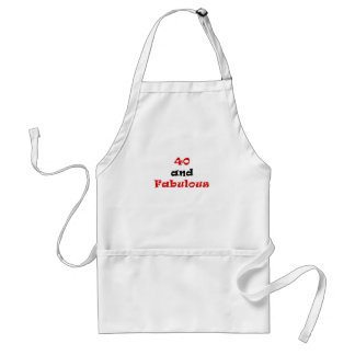 40 and Fabulous Adult Apron