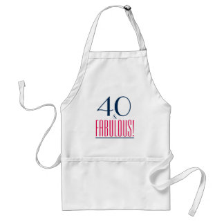40 and Fabulous! Birthday Gift Apron