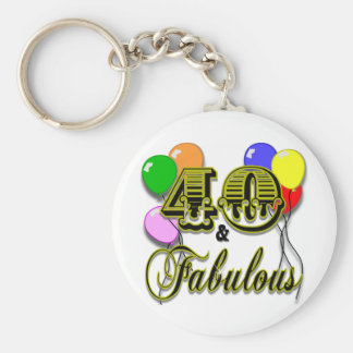 40 and Fabulous Birthday Gifts and Apparel Keychain