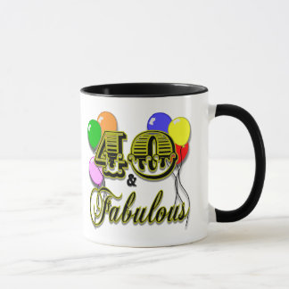 40 and Fabulous Birthday Gifts and Apparel Mug