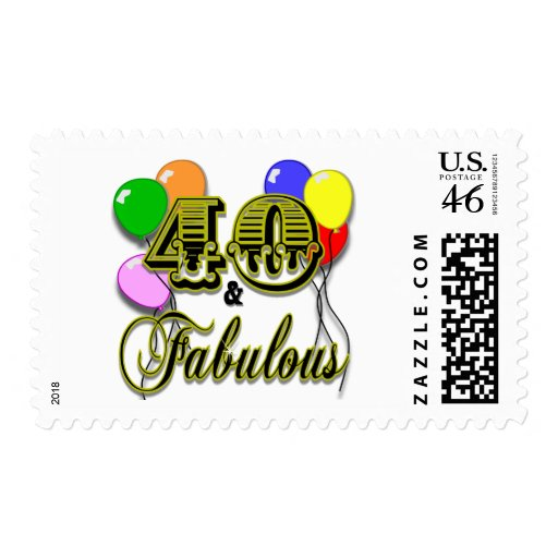 40 and Fabulous Birthday Gifts and Apparel Postage
