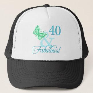 40 And Fabulous Birthday Gifts (Aqua) Trucker Hat
