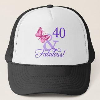 40 And Fabulous Birthday Trucker Hat